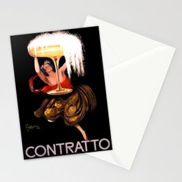 CONTRATTO CHAMPAGNE VINTAGE POSTER Stationery Cards