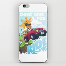 Don´t give a fox iPhone & iPod Skin