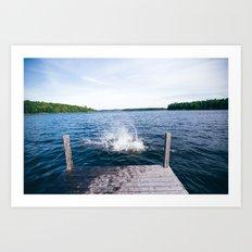 Lake Splash Art Print