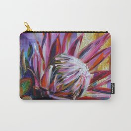 The King Protea - hot pink and yellow ochre Carry-All Pouch