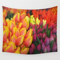 tulips Wall Tapestries featuring Tulips by Bizzack Photography