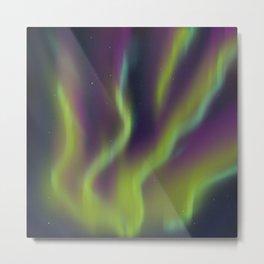Neon Aurora Borealis Metal Print