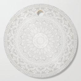 Mandala Soft Gray Cutting Board