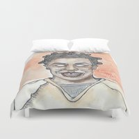 oitnb Duvet Covers featuring Crazy Eyes OITNB by Ashley Rowe