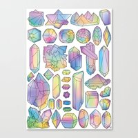 minerals Canvas Prints featuring Rainbow Minerals by Ouvra