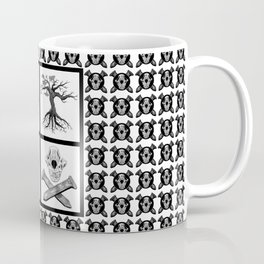 Amos Fortune Grid Pattern Coffee Mug