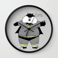 the neighbourhood Wall Clocks featuring Fat Kid Costume by Pigboom Art