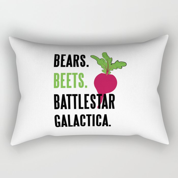 BEARS, BEETS, BATTLESTAR, GALACTICA Rectangular Pillow