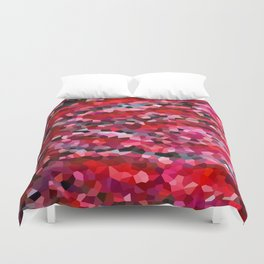 Mermaid Ruby Red Fish Tail Scales Duvet Cover