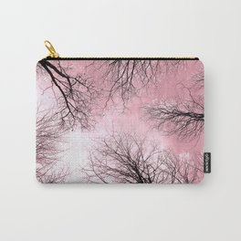 Black Trees Pink Sky Carry-All Pouch