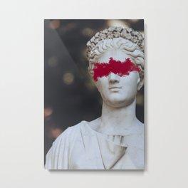 Distressed Greek Statue Metal Print
