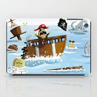 pirates iPad Cases featuring Pirates by modernagestudio