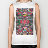 african Biker Tanks featuring AFRICAN MOTIF  by Vasare Nar