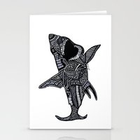 jaws Stationery Cards featuring Jaws by Lauren Moore