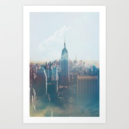 Low Clouds in NYC Art Print