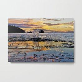 Sunrise Over Tessellated Pavement Metal Print