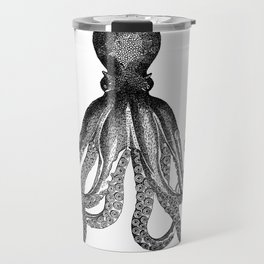 Antique Nautical Steampunk Octopus Vintage Victorian Kraken sea monster emo goth drawing Travel Mug