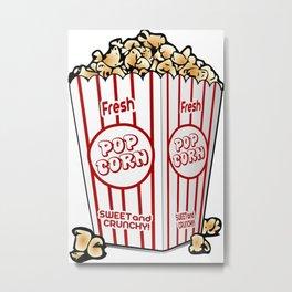 Cartoon Sweet Popcorn Metal Print