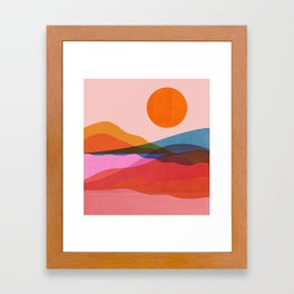 Abstraction_OCEAN_Beach_Minimalism_001 Framed Art Print
