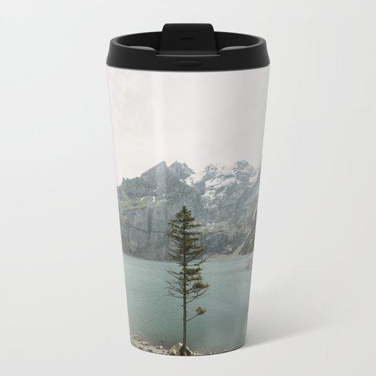 Lone Switzerland Tree - Landscape Photography Metal Travel Mug