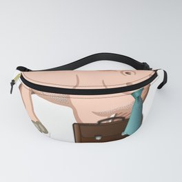 Pig Business Pig Brings Home the Bacon Funny Pigs Fanny Pack
