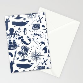 High Seas Adventure // Navy Blue Stationery Cards