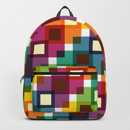 Geometric Pattern 11 (Colorful squares) Backpack