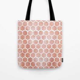 Rose gold bee cube Tote Bag