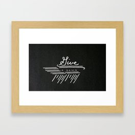 Give a Damn Framed Art Print