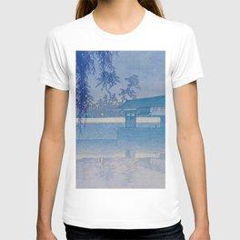 Kawase Hasui Sakurada Gate in Tokyo; Rare Blue Version 1928 Japanese Woodblock Print T-shirt