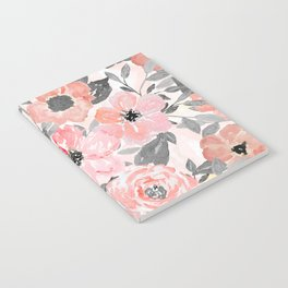 Elegant simple watercolor floral Notebook