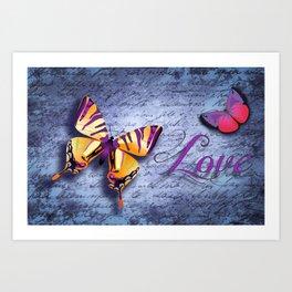 Buterfly Love Art Print