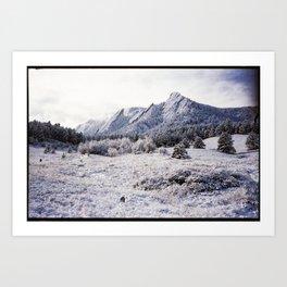 Winter Flatirons 35mm Art Print
