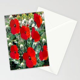 Surreal Poppy Garden Stationery Cards