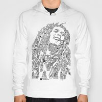 marley Hoodies featuring Marley by Ron Goswami