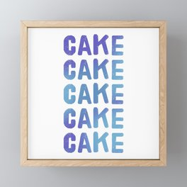 Cake - Flavour Blue Blast Framed Mini Art Print