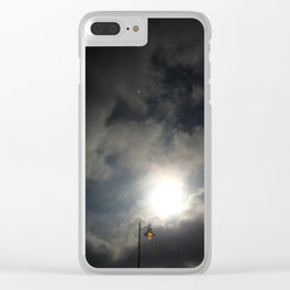 Lamp Lit In the Face of the Sun Clear iPhone Case