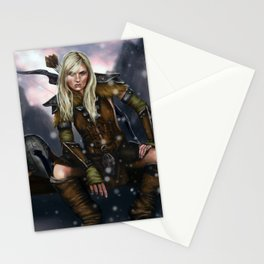 Fantasy Nordic Ranger Woman Stationery Cards