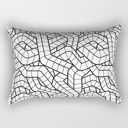 Ducts White Rectangular Pillow