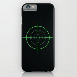Gun Sight Crosshairs iPhone Case
