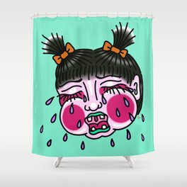 Cry Baby Girl Shower Curtain