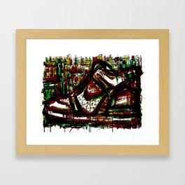Green High Thick Kick Framed Art Print