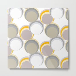 Circles and bubbles seamless pattern Metal Print