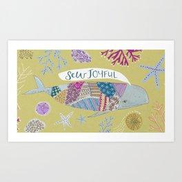 Sew Joyful Whale Art Print