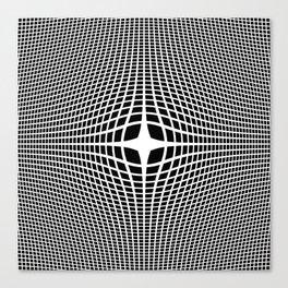 White On Black Convex Canvas Print