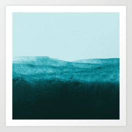 Aqua Watercolor Tide Art Print