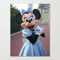 minnie mouse Canvas Prints featuring Minnie Mouse by Jackash14