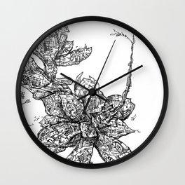 Mechanical Succlent 019 Wall Clock
