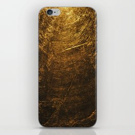 gold vintage iPhone Skin