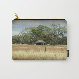 Mid 1800s Thatched Barn Carry-All Pouch
